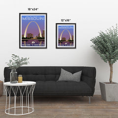 Ezposterprints - MISSOURI Retro Travel Poster ambiance display photo sample