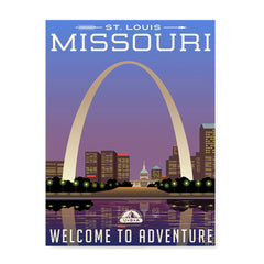 Ezposterprints - MISSOURI Retro Travel Poster