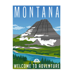Ezposterprints - MONTANA Retro Travel Poster