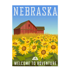 Ezposterprints - NEBRASKA Retro Travel Poster