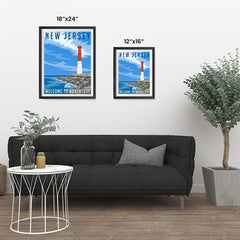 Ezposterprints - NEW JERSEY Retro Travel Poster ambiance display photo sample
