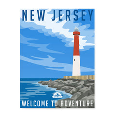 Ezposterprints - NEW JERSEY Retro Travel Poster