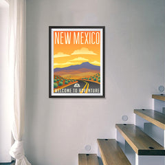 Ezposterprints - NEW MEXICO Retro Travel Poster - 18x24 ambiance display photo sample