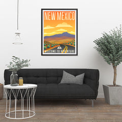 Ezposterprints - NEW MEXICO Retro Travel Poster - 24x32 ambiance display photo sample
