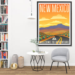 Ezposterprints - NEW MEXICO Retro Travel Poster - 36x48 ambiance display photo sample