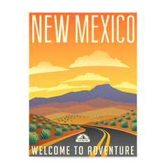 Ezposterprints - NEW MEXICO Retro Travel Poster