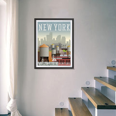 Ezposterprints - NEW YORK Retro Travel Poster - 18x24 ambiance display photo sample