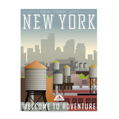 Ezposterprints - NEW YORK Retro Travel Poster