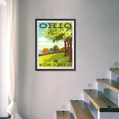 Ezposterprints - OHIO Retro Travel Poster - 18x24 ambiance display photo sample
