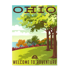 Ezposterprints - OHIO Retro Travel Poster