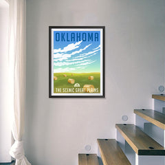 Ezposterprints - OKLAHOMA Retro Travel Poster - 18x24 ambiance display photo sample