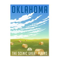 Ezposterprints - OKLAHOMA Retro Travel Poster
