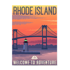 Ezposterprints - RHODE ISLAND Retro Travel Poster