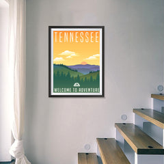 Ezposterprints - TENNESSEE Retro Travel Poster - 18x24 ambiance display photo sample