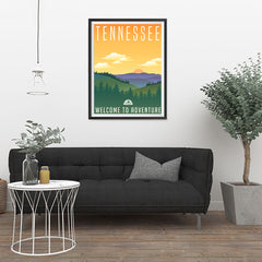 Ezposterprints - TENNESSEE Retro Travel Poster - 24x32 ambiance display photo sample