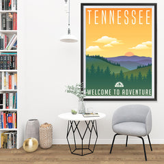 Ezposterprints - TENNESSEE Retro Travel Poster - 36x48 ambiance display photo sample