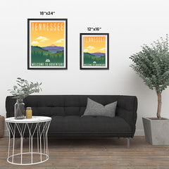 Ezposterprints - TENNESSEE Retro Travel Poster ambiance display photo sample