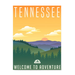 Ezposterprints - TENNESSEE Retro Travel Poster