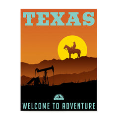 Ezposterprints - TEXAS Retro Travel Poster
