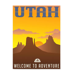 Ezposterprints - UTAH Retro Travel Poster