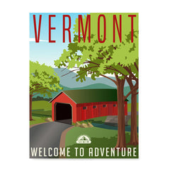 Ezposterprints - VERMONT Retro Travel Poster