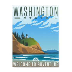 Ezposterprints - WASHINGTON Retro Travel Poster