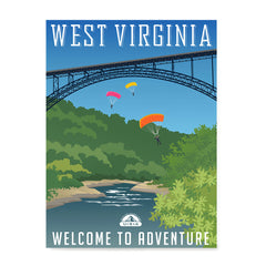 Ezposterprints - WEST VIRGINIA Retro Travel Poster