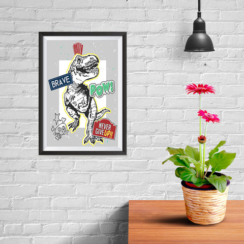 Ezposterprints - The Brave Racer T-Rex - 08x12 ambiance display photo sample