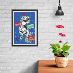 Ezposterprints - The Brave Racer T-Rex - Blue - 08x12 ambiance display photo sample