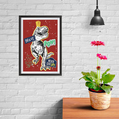Ezposterprints - The Brave Racer T-Rex - Red - 08x12 ambiance display photo sample