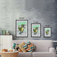 Ezposterprints - Cool 86 T-Rex Skater | Dinosaurs Jurassic Games ambiance display photo sample