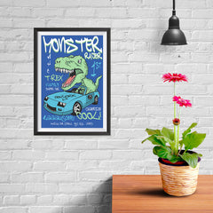 Ezposterprints - Super Car & Monster Racer T-Rex - 08x12 ambiance display photo sample