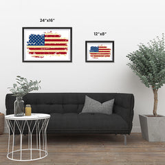 Ezposterprints - Veteran Worn Out USA Flag Poster ambiance display photo sample