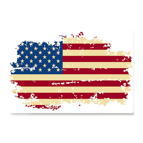 Ezposterprints - Veteran Worn Out USA Flag Poster