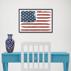 Ezposterprints - Faded USA Flag Poster - 18x12 ambiance display photo sample