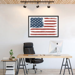 Ezposterprints - Faded USA Flag Poster - 36x24 ambiance display photo sample