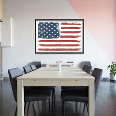 Ezposterprints - Faded USA Flag Poster - 48x32 ambiance display photo sample