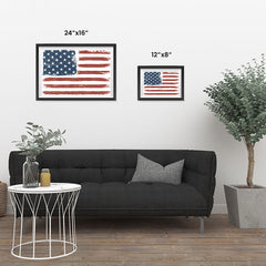 Ezposterprints - Faded USA Flag Poster ambiance display photo sample