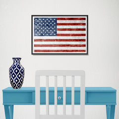 Ezposterprints - Grunge USA Flag 1 Poster - 18x12 ambiance display photo sample
