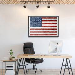 Ezposterprints - Grunge USA Flag 1 Poster - 36x24 ambiance display photo sample