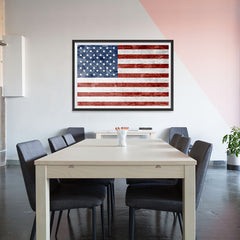 Ezposterprints - Grunge USA Flag 1 Poster - 48x32 ambiance display photo sample