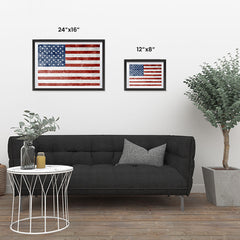 Ezposterprints - Grunge USA Flag 1 Poster ambiance display photo sample