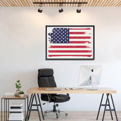 Ezposterprints - Grunge Worn Out USA Flag Poster - 36x24 ambiance display photo sample