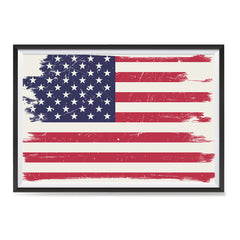 Ezposterprints - Grunge Worn Out USA Flag Poster ambiance display photo sample