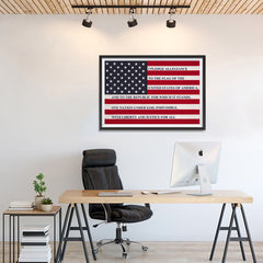 Ezposterprints - The USA Flag with Pledge Of Allegiance Poster - 36x24 ambiance display photo sample