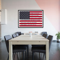 Ezposterprints - The USA Flag with Pledge Of Allegiance Poster - 48x32 ambiance display photo sample