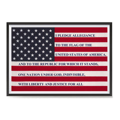 Ezposterprints - The USA Flag with Pledge Of Allegiance Poster ambiance display photo sample