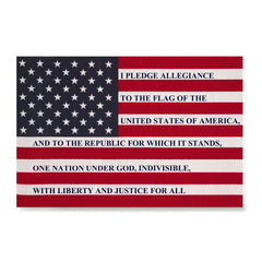 Ezposterprints - The USA Flag with Pledge Of Allegiance Poster