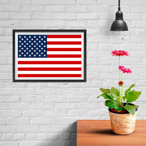 Ezposterprints - Brand New USA Flag Poster - 12x08 ambiance display photo sample
