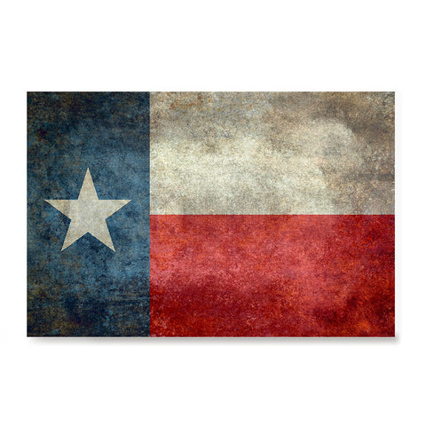 Ezposterprints - Texas Style Lonely Star USA Flag Poster